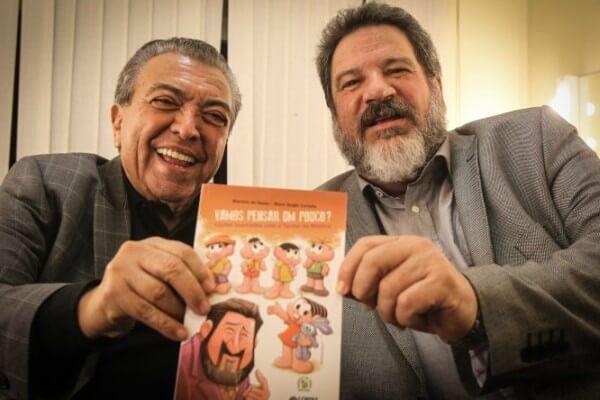 Mauricio de Sousa e Cortella levam filosofia para crianças na 25ª Bienal Internacional do Livro de São Paulo